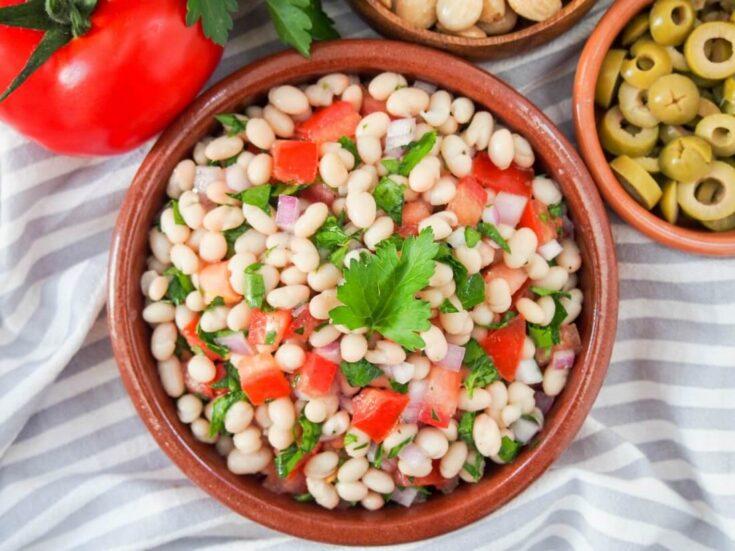 Easy white bean salad