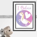 printable i believe unicorn quote
