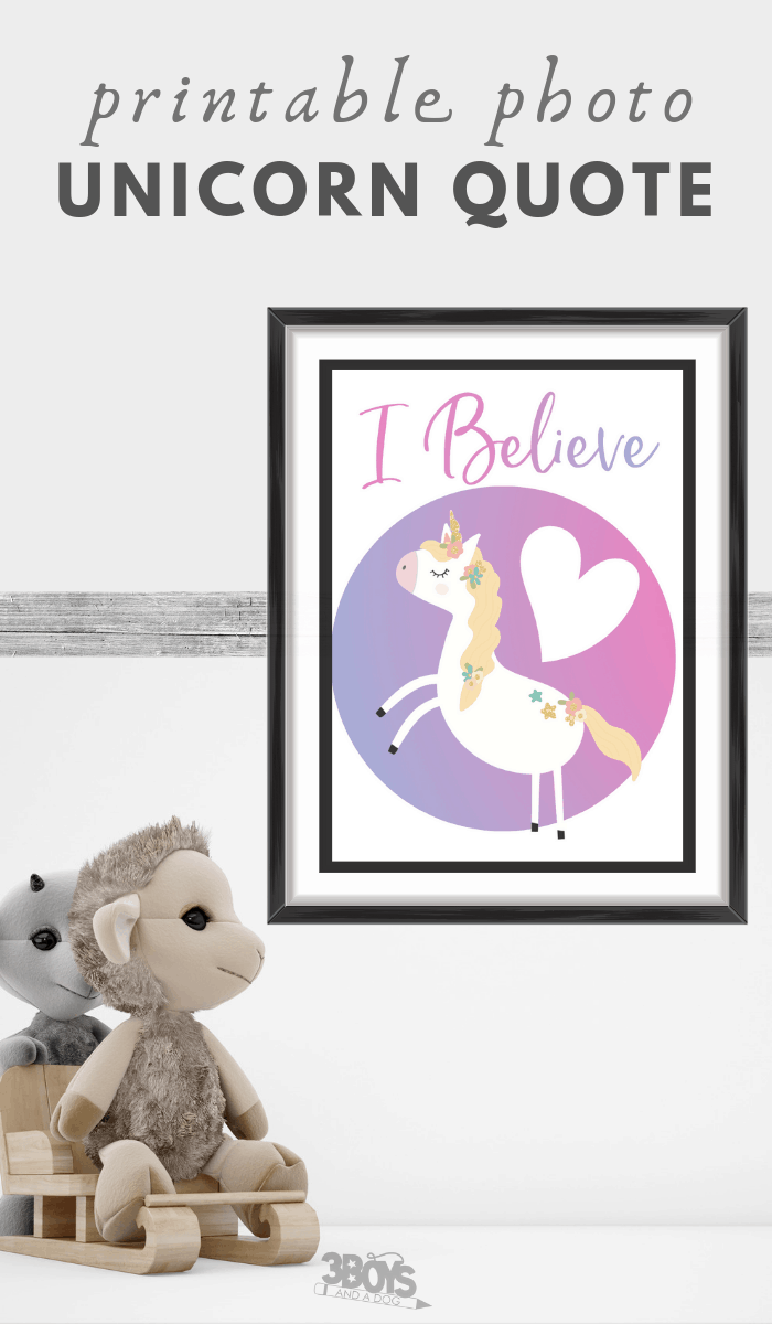 printable i believe unicorn quote
