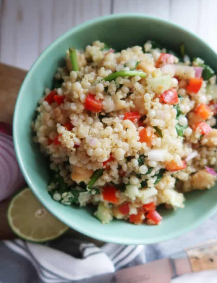 Couscous and Quinoa Salad with Lime Vinaigrette