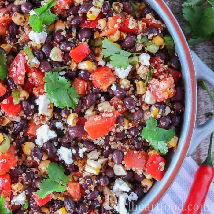 Corn and Black Bean Mexican Quinoa Salad