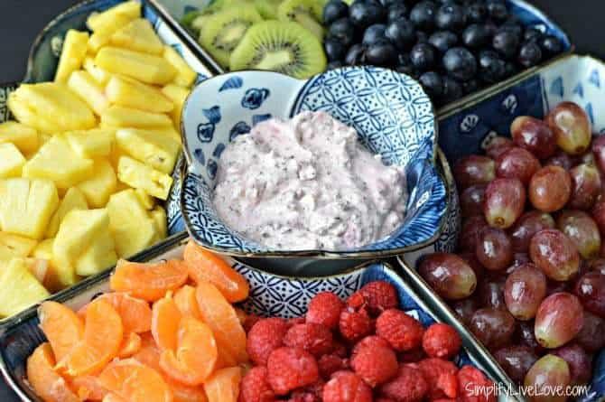 Healthy Fruit Dip & Tray