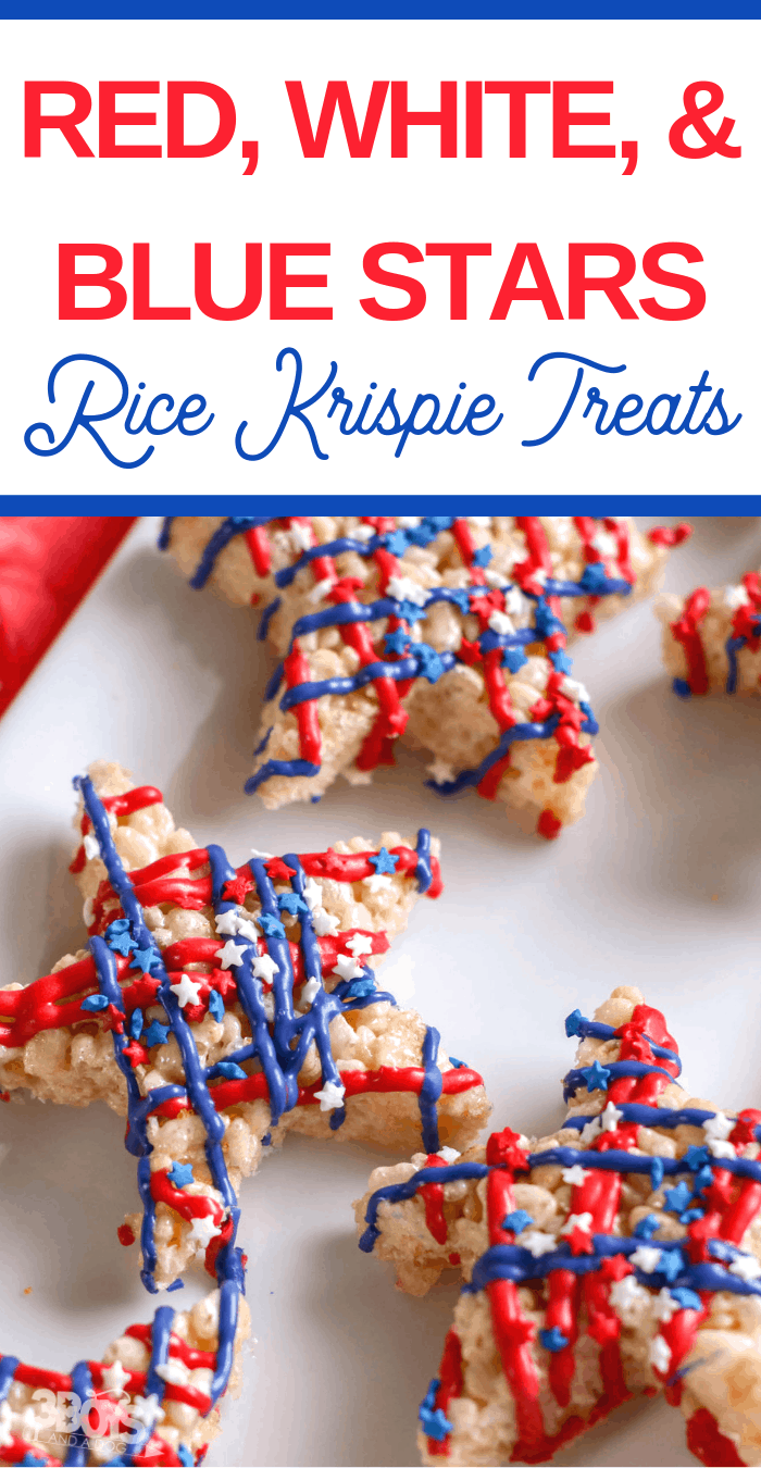 DIY snack treats for Independence Day from rice krispie cereal