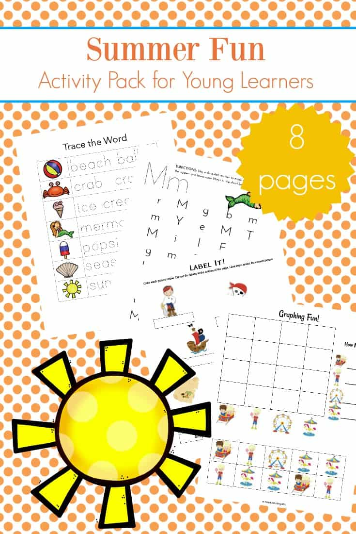 summer themed activity worksheets for Lower Elementary Kids