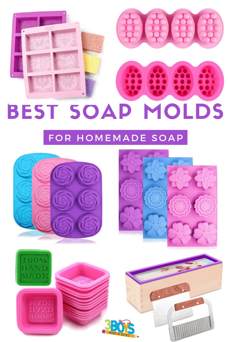 pictures of different soap molds for homemade soap