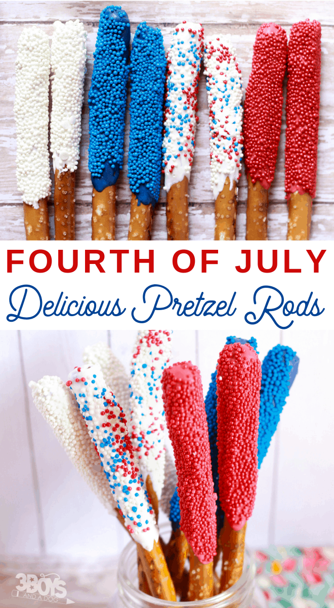 Fourth of July Pretzel Sticks