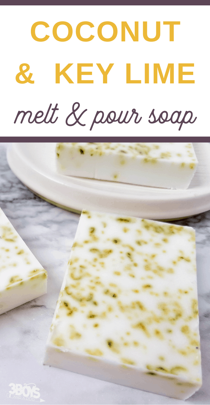 lime and coconut milk soap recipe