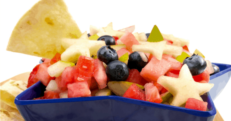Red, White And Blue Fruit Salsa