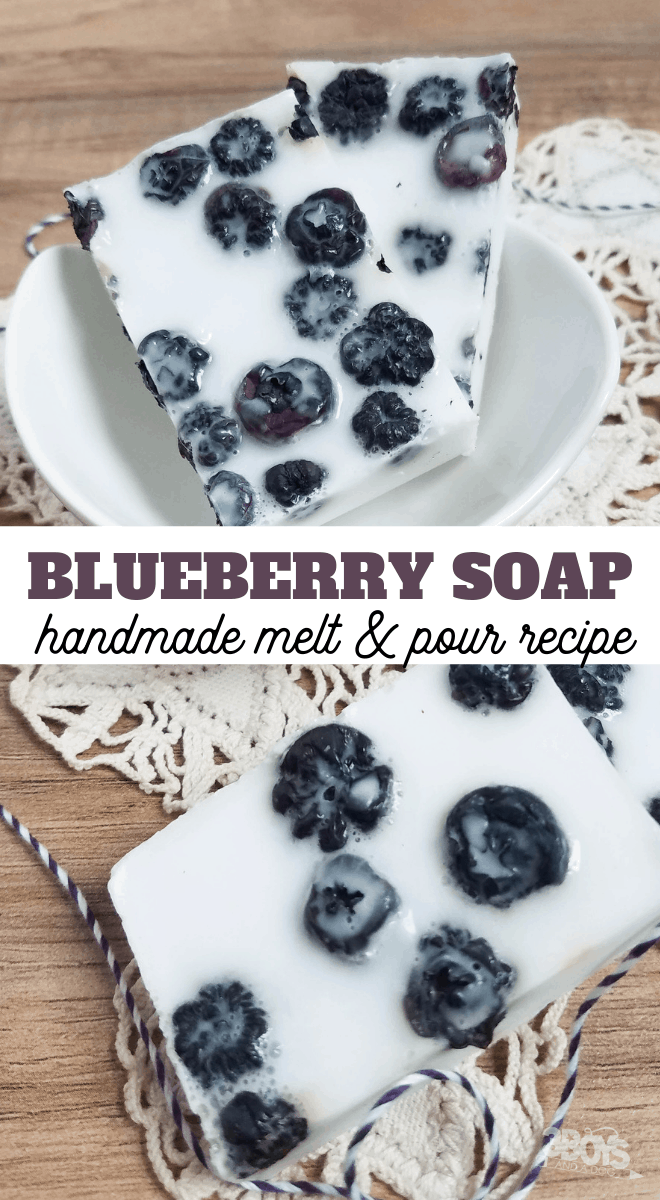 make blueberry soap at home