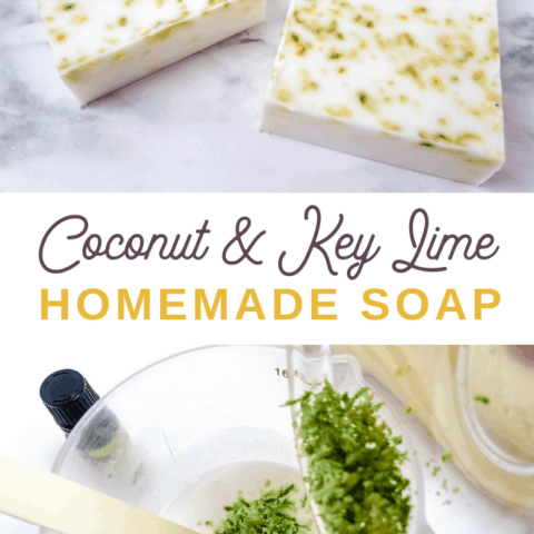 how to make coconut lime soap