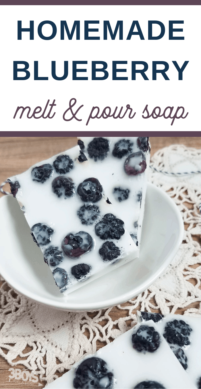 blueberries and cream melt and pour soap