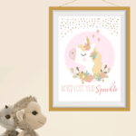 printable never lose your sparkle unicorn quote
