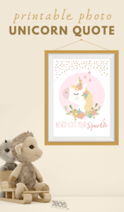 printable never lose your sparkle unicorn quote