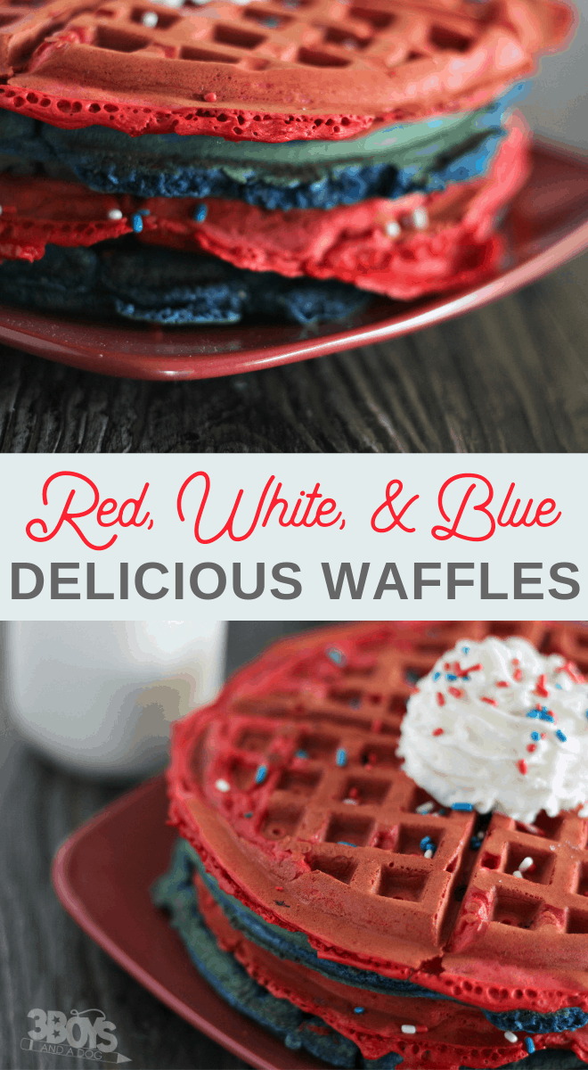 blueberry and strawberry waffles for kids