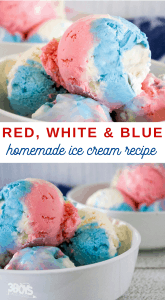 Patriotic No Churn Ice Cream Recipe