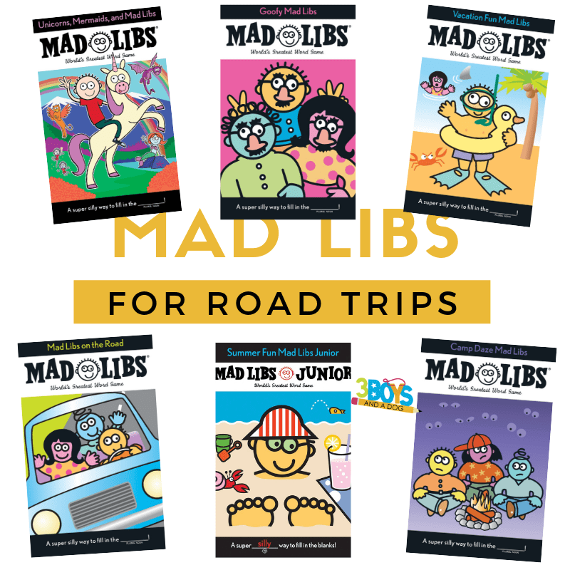 mad libs for road trips keep the kids busy