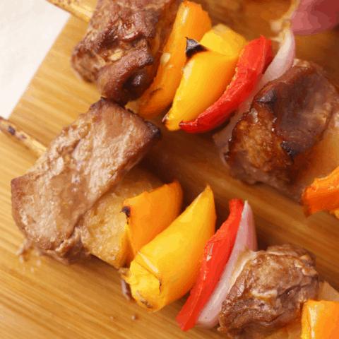 Hawaiian Pork Kebabs