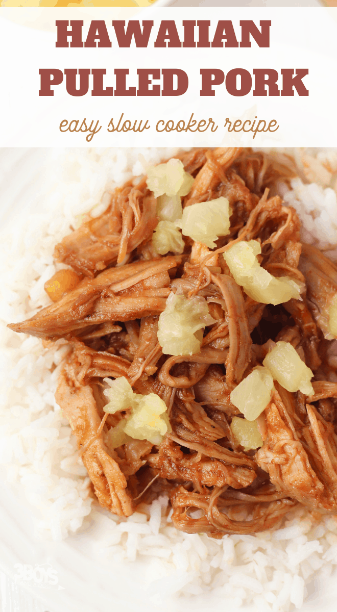 Easy Slow Cooker Hawaiian Pulled Pork over Rice