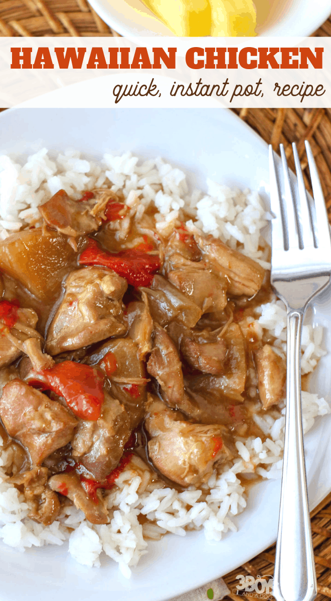 Hawaiian Chicken recipe in the pressure cooker