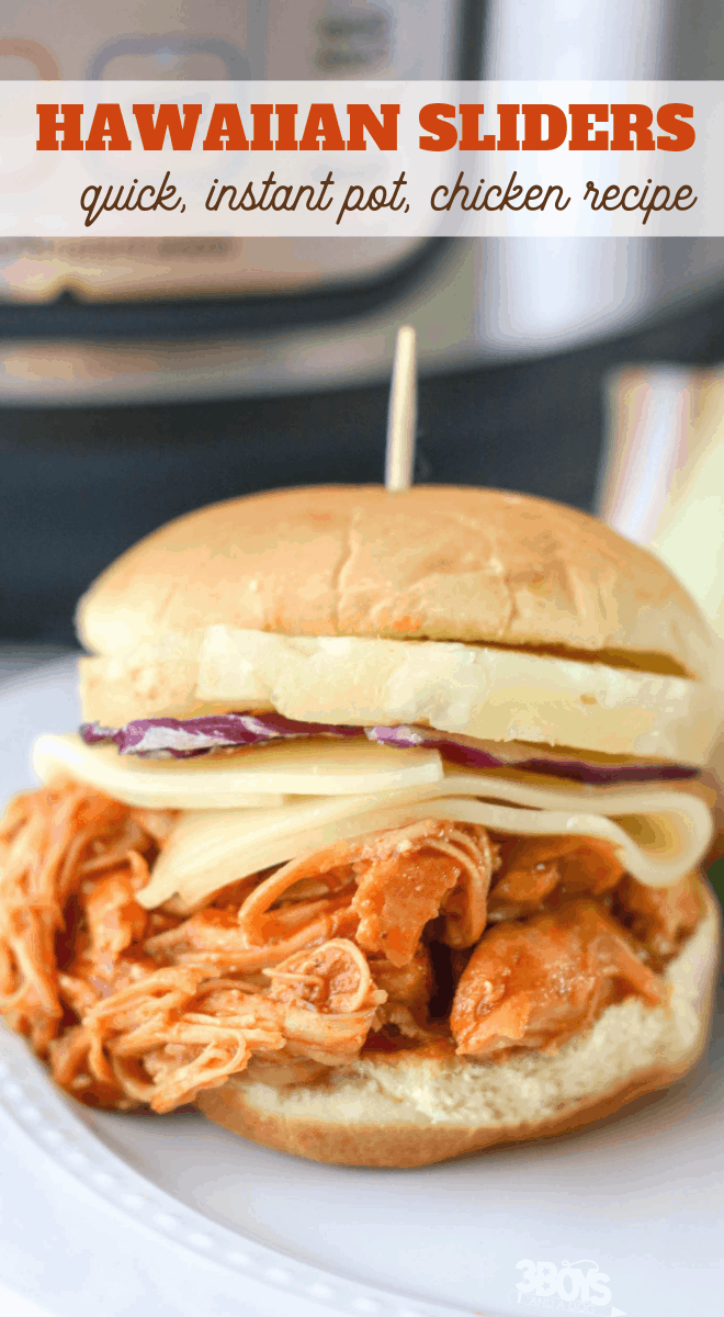 Hawaiian Chicken Sliders recipe in the pressure cooker