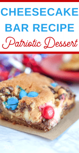 Independence Day recipe with cream cheese and chocolate chips