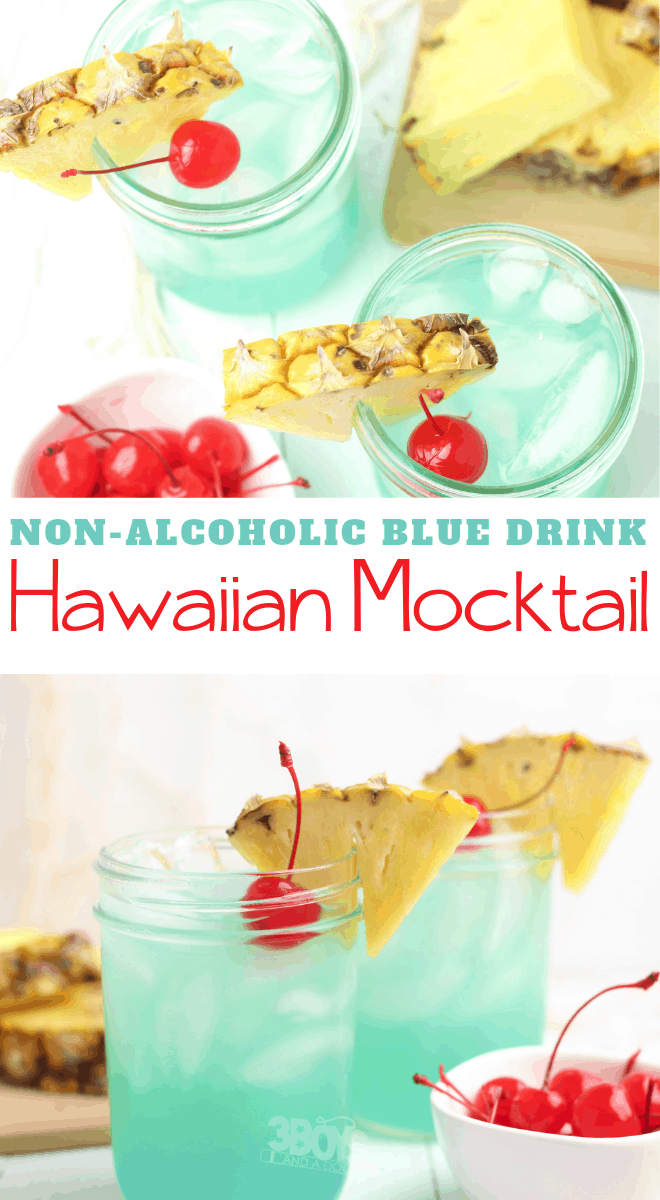 Blue Colored Mocktail Drink