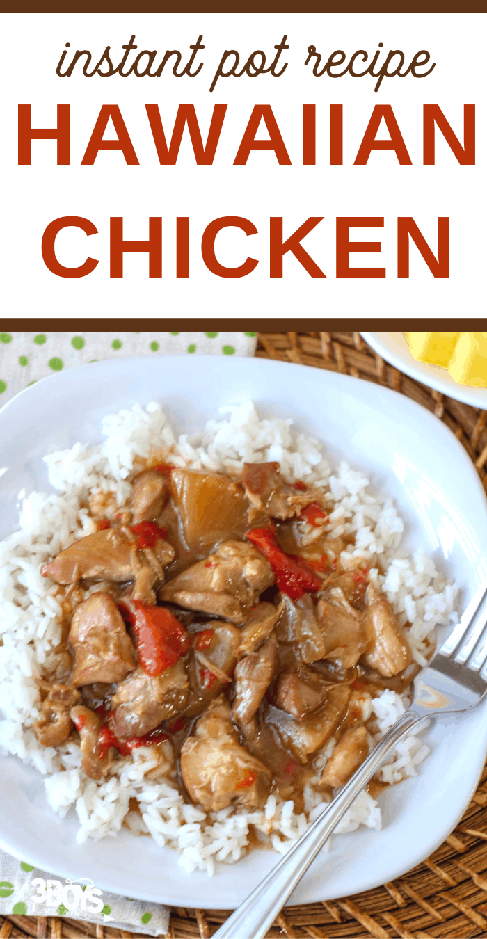 Luau Chicken over rice in the Instant Pot