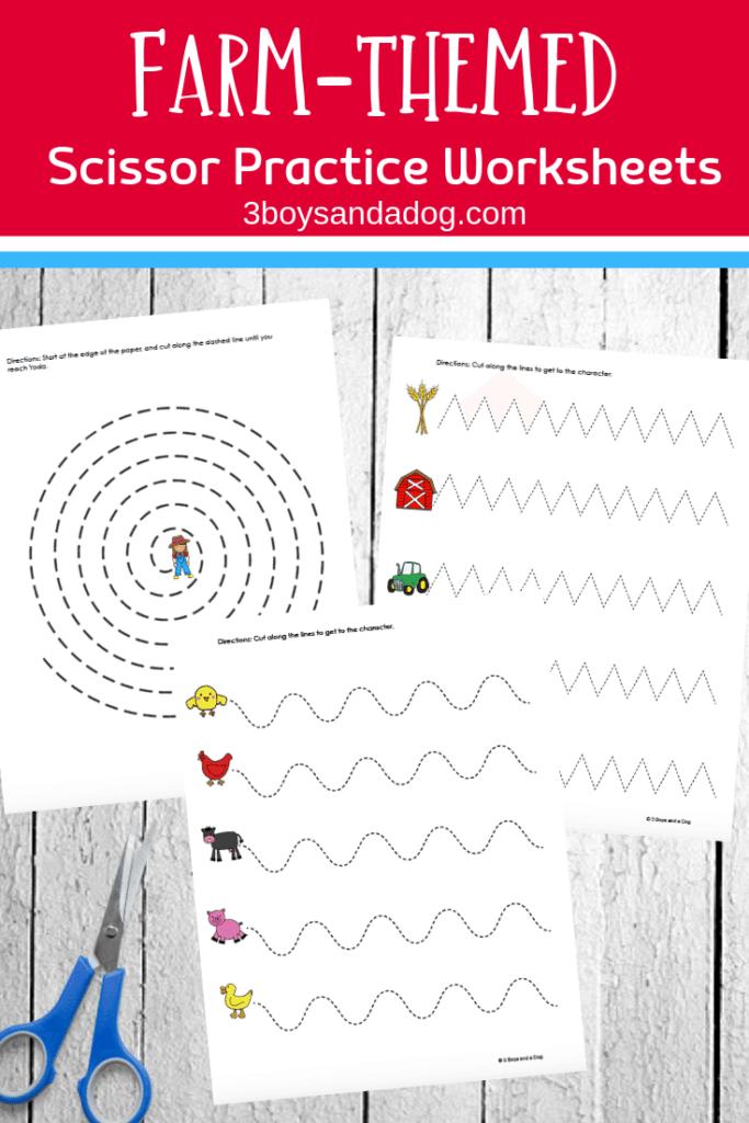 Cutting Practice For Kindergarten Worksheet