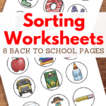 cut and sort activities for back to school