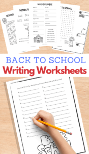 Back to School Printable Writing Activities for Kids