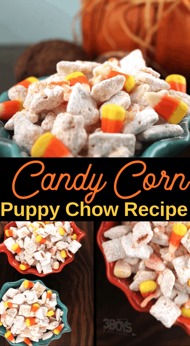 Candy Corn Puppy Chow Recipe