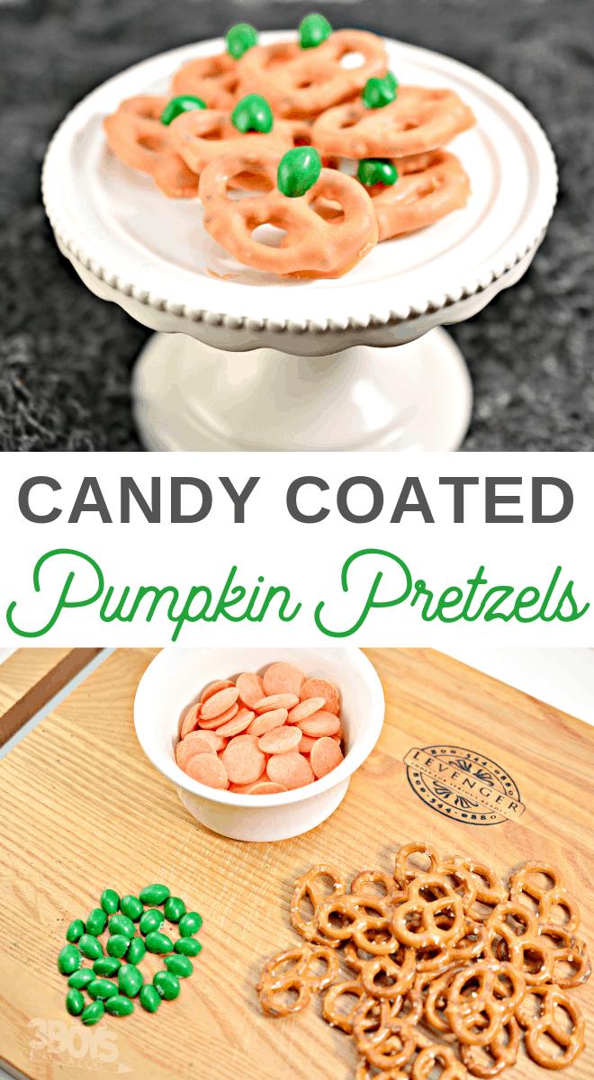 easy chocolate covered pretzel pumpkins recipe
