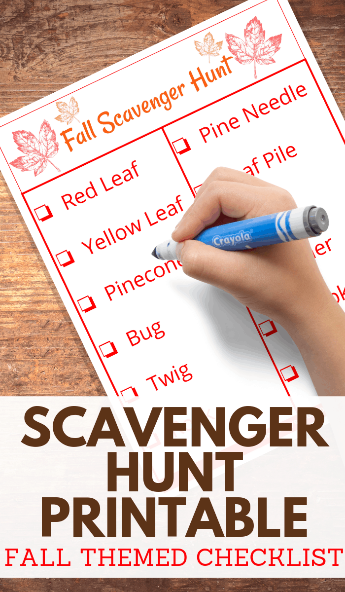 fall scavenger hunt idea