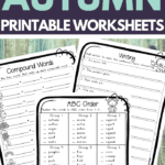 Autumn Worksheets for Upper Elementary School