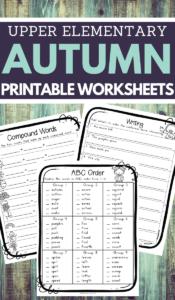 Autumn Worksheets for Upper Elementary School