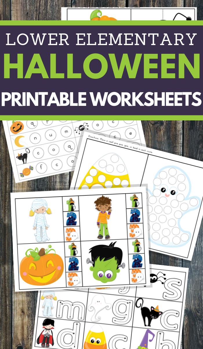 Halloween Worksheets for Lower Elementary School