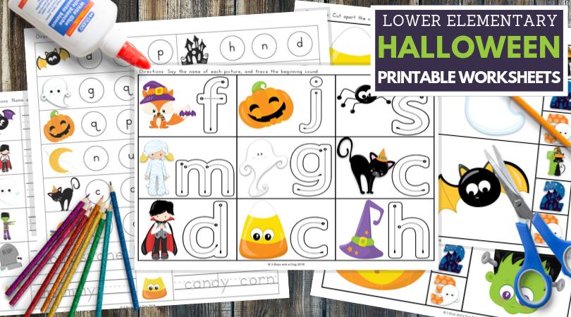Free Printable Halloween Fun Worksheets for Lower Elementary