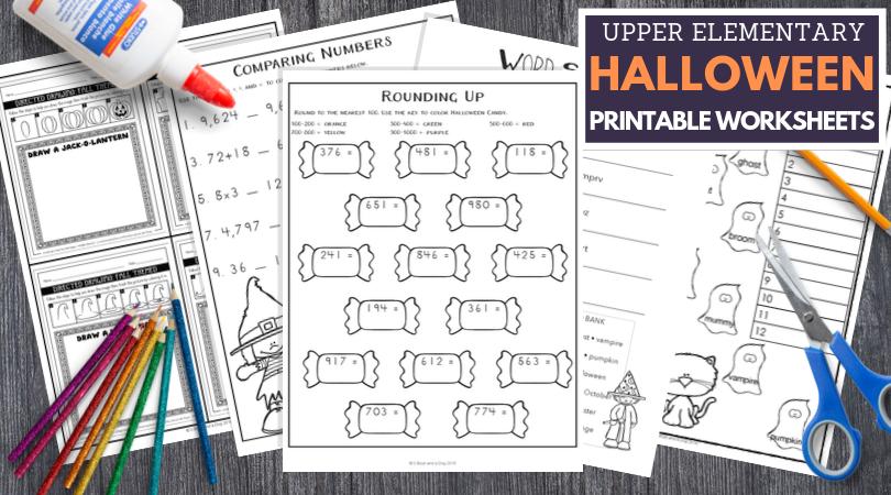 Upper Elementary Halloween worksheets