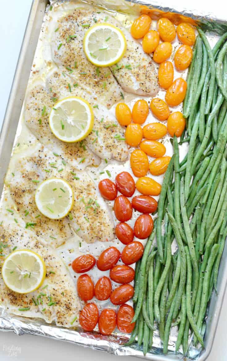 Lemon Pepper Tilapia Sheet Pan Dinner