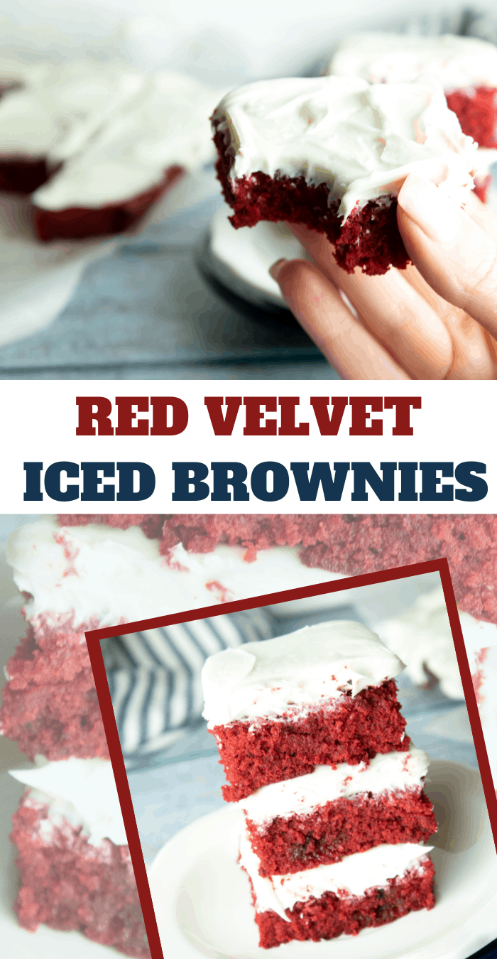 Best Red Velvet Brownies with Cream Cheese Frosting
