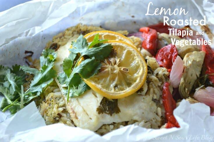 Lemon Roasted Tilapia and Vegetables