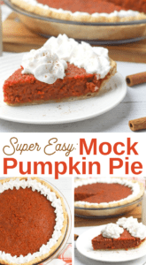 delicious and healthy mock pumpkin pie