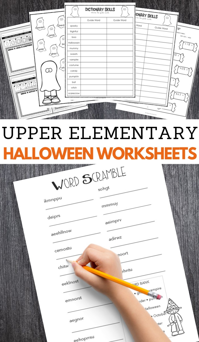 Halloween Worksheets for Upper Elementary School