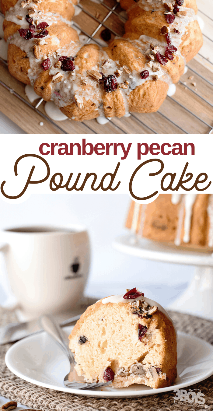 easy cranberry pecan pound cake recipe