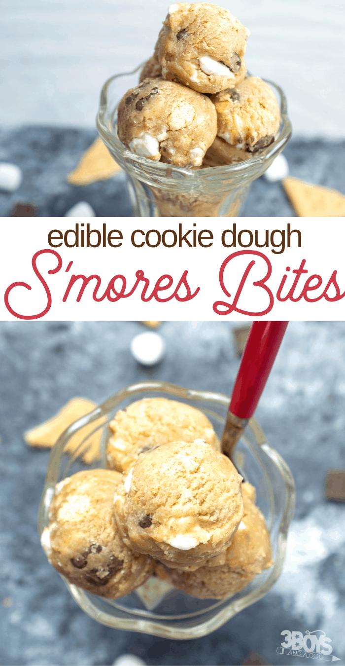 homemade smores cookie dough bites