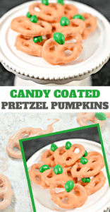Easy Candy Coated Pretzel Pumpkins for Kids