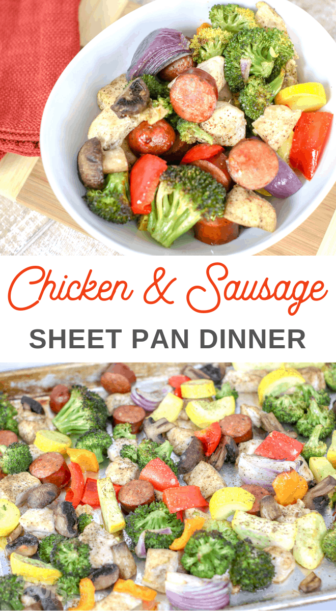 Simple Chicken and Sausage Sheet Pan Dinner