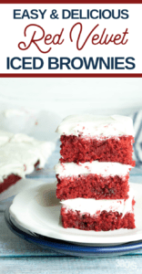 easy and delicious red velvet brownies with cream cheese frosting