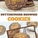 cookies made from brownie mix and crushed Butterfingers