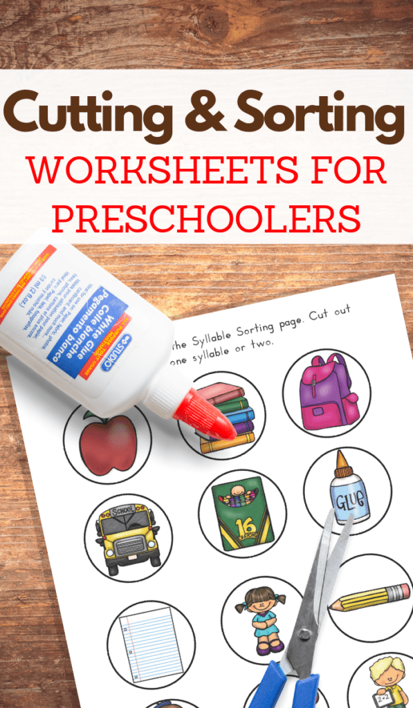 Back to School Printable Sorting Games for Kids